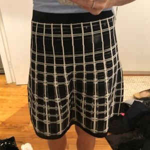 Nanette Lepore Knit Windowpane Skirt
